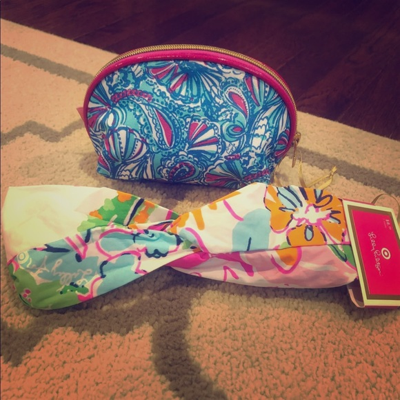 Lilly Pulitzer for Target Handbags - Lily Pulitzer for Target: cosmetic bag/head wrap
